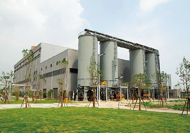 Sewage sludge drying and incineration facility for Shanghai City