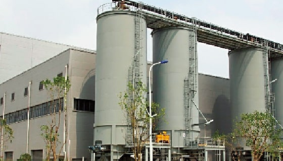 Sewage sludge drying and incineration facility for Shanghai City (China)