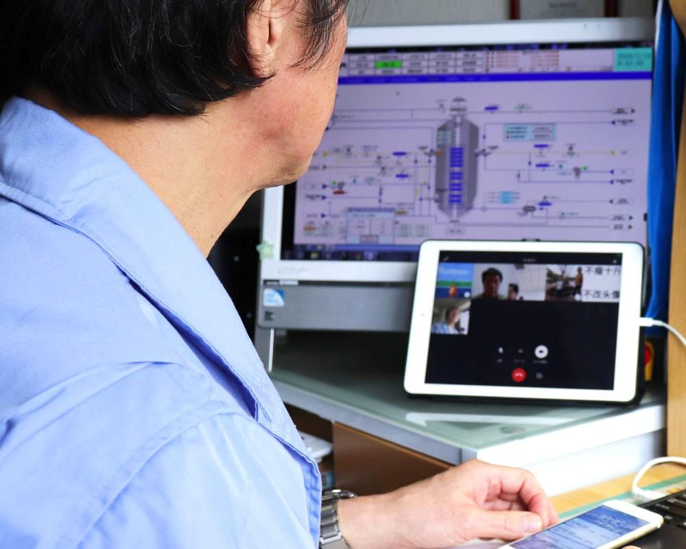 日本側の遠隔監視画面